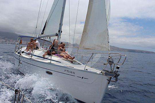 from Playa de las Amercas on sailing trip