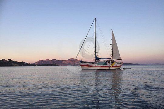 Sonnenuntergang Segelyacht auf Mallorca
