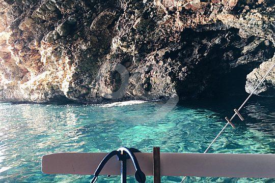 Anchor at a sea cave