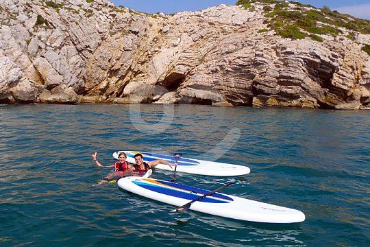 SUP Sitges: Badepause an der Costa Dorada