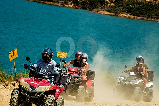 Group fun on a quad tour in Crete