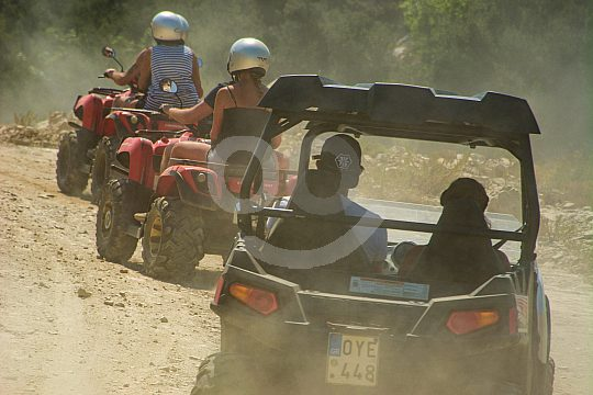 with quads and buggies through Crete
