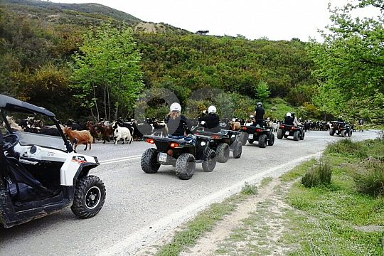Quad riding on the mountain roads of Crete