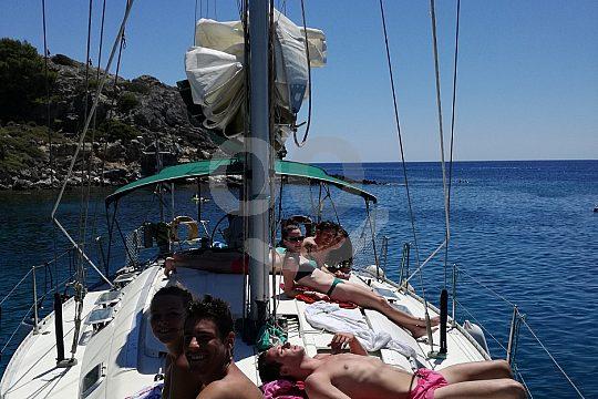 sailing in a dreamlike scenery in Rhodes