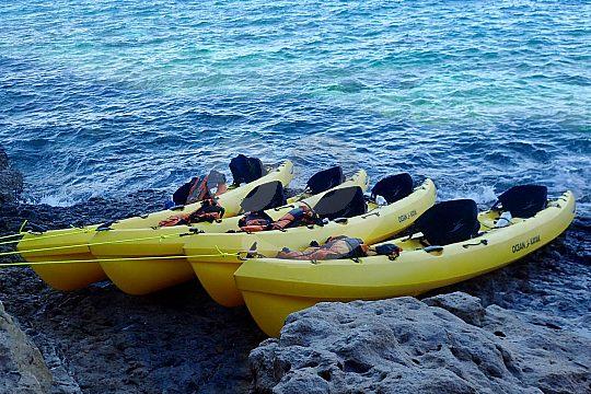 Ausflug mit dem Kayak an der Costa Blanca