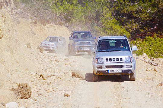 ganztägiger Ausflug im Jeep auf Rhodos