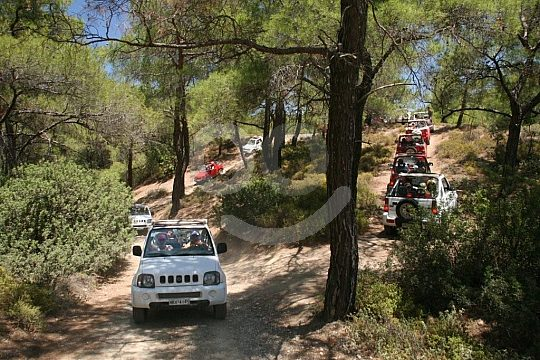 Rhodes jeep tour in the mountains