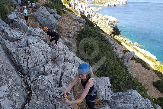 Climbing adventure on the Mediterranean