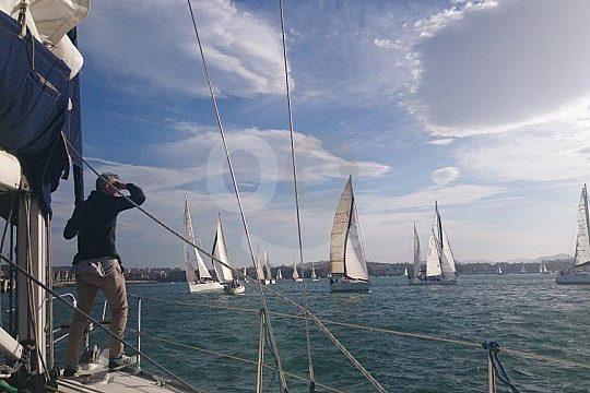 sailing at the Basque coast