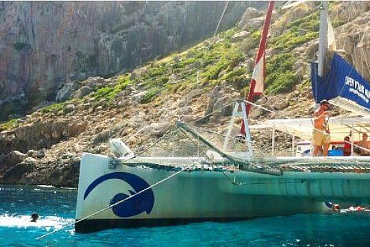 catamaran sailing in the north of Majorca