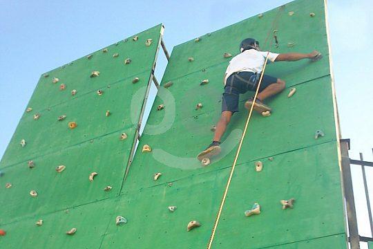 climbing near Granada at the climbing wall near Antequera