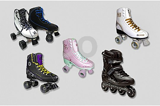Rollerskates and rollerblades