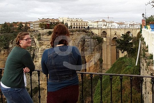 beautiful view to Ronda at the tour in Andalusia