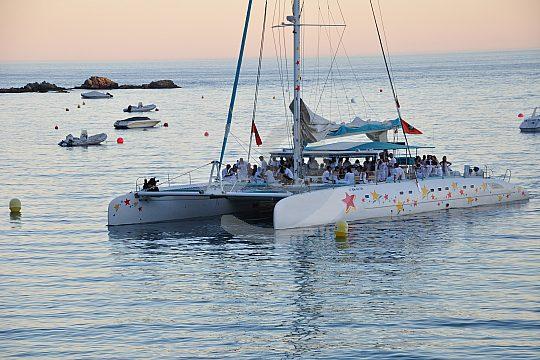 Catamaran ride Sunset