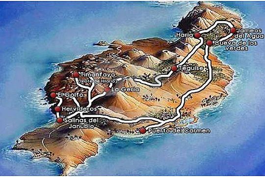 Take a tour over the island Lanzarote