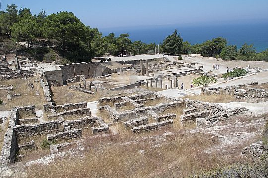 remains of the ancient city of Kamiros