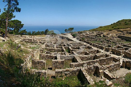 ruins of the ancient city of Kamiros in Rhodes