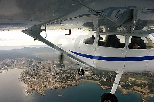 Costa Brava sightseeing flight in a light aircraft