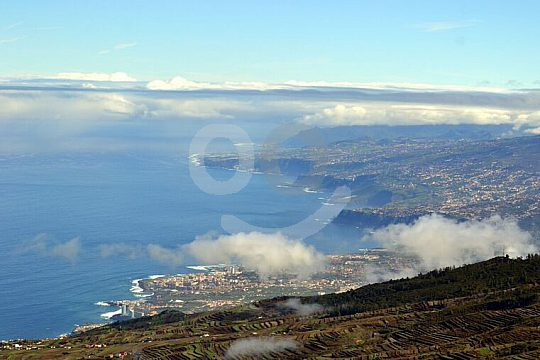 Sightseeing flight Helicopter Coast Sea Tenerife