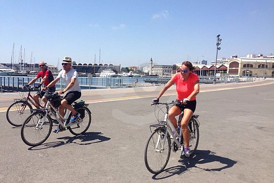 guided city bike tour in Valencia