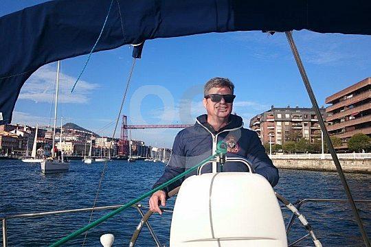 Skipper on the Bavaria 30