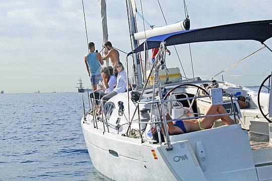 Barcelona sailing along the coast