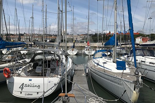 sailing boats in the port of Lisbon