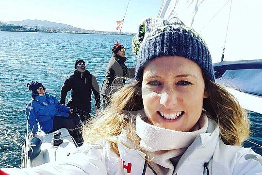 sailing in Vigo during winter