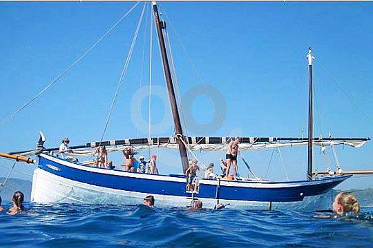 traditional sailboat at Costa Brava