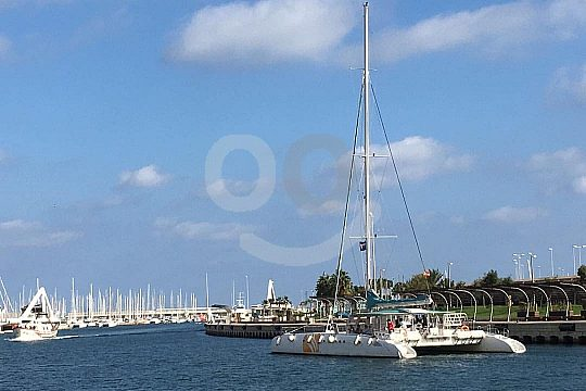 from Valencia on catamaran tour