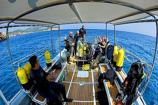 boat dive in Mallorca