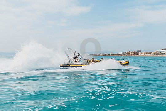 Speed boating in Mallorca