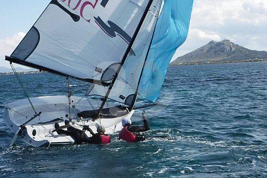 Mallorca dinghy sailing Pollenca