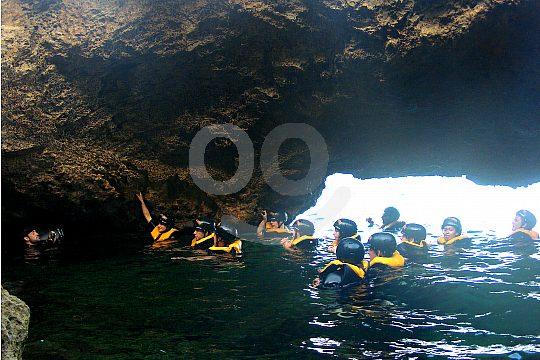 Treasure hunt cave Majorca groups
