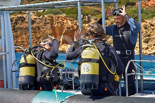 Scuba diving in the Algarve