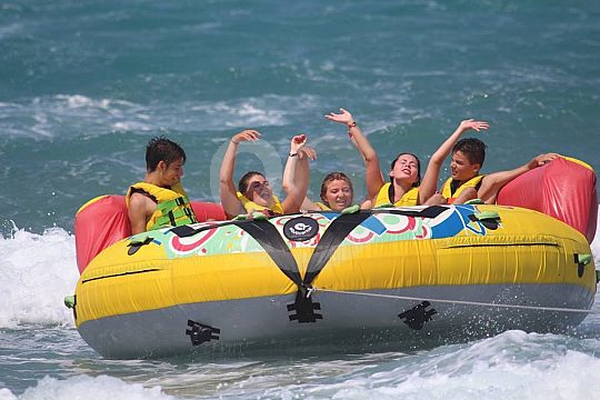 Fun with watersport on Crete