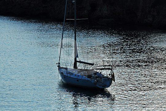 sailing at night in Mallorca