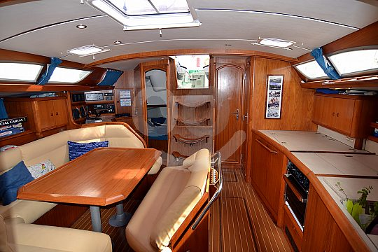 sailing yacht from inside