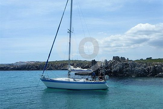 the sailing boat in Minorca