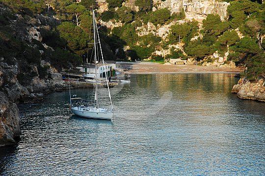 sailing yacht in a Majorcan bay