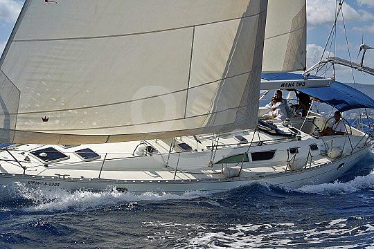 sailing boat in the Mediterranean sea