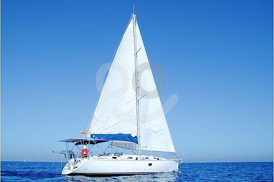 Beautiful Costa del Sol in a sailboat