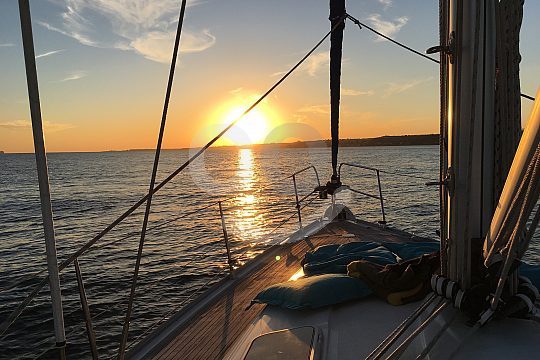 sailing trip Lisbon sunset
