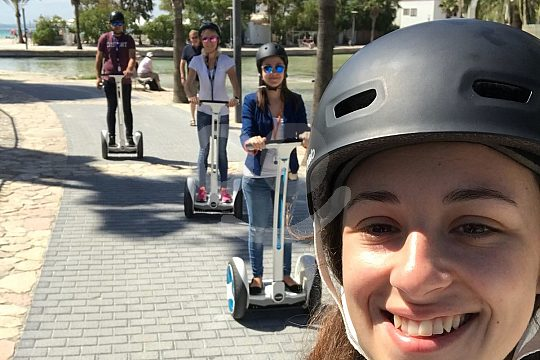 Young people on the Segway Tour on Mallorca