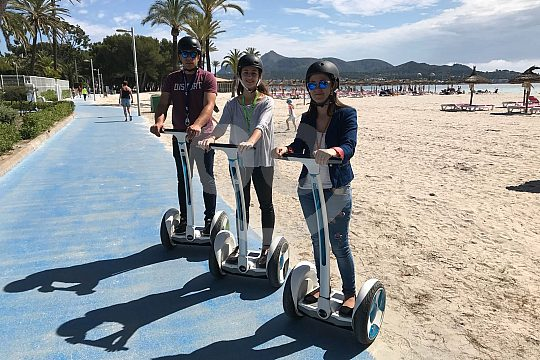 With the Segway at the beach of Alcudia