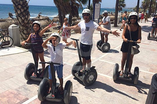 on the road with the Segways in Marbella