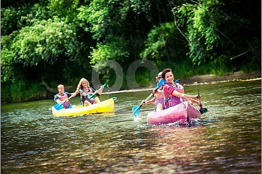 Canoeing fun on the Sella