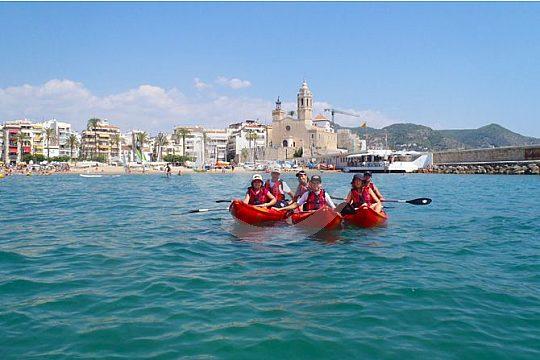 kayaking in Sitges