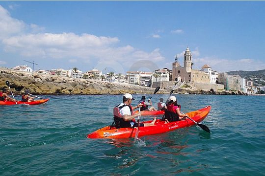 excursion with the kayak in Sitges