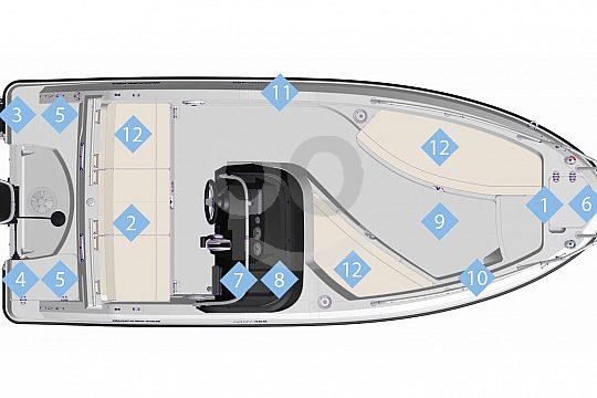 layout of the licence-free boat